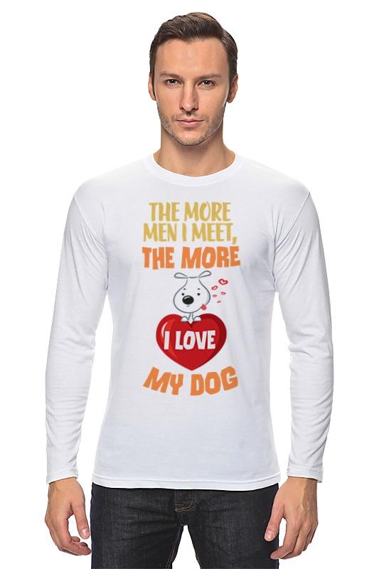 Лонгслив Printio Я люблю свою собаку