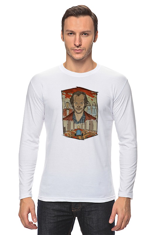 Лонгслив Printio The shining t-shirt art 1 tiered flower embroidery t shirt