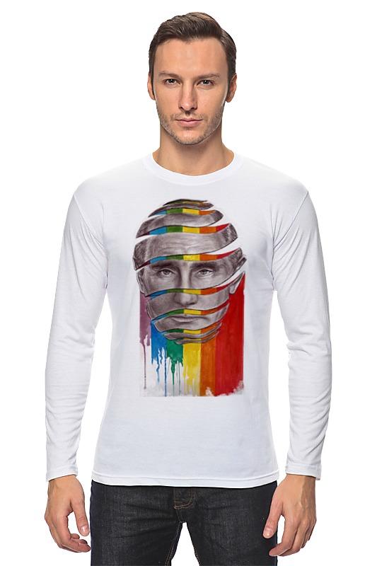 Лонгслив Printio Путин с лгбт футболка лгбт