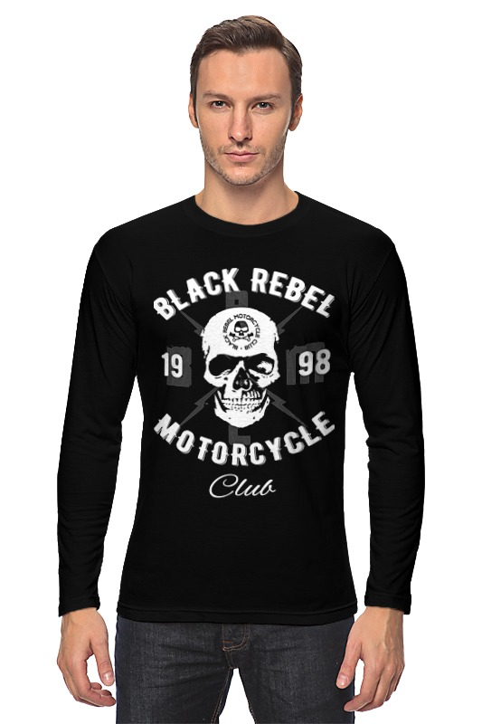 Лонгслив Printio Black rebel motorcycle club