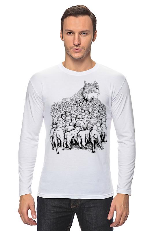 Лонгслив Printio Волк в овечьей шкуре футболка wearcraft premium printio волк в овечьей шкуре
