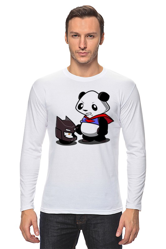 Лонгслив Printio Бэтмен и панда