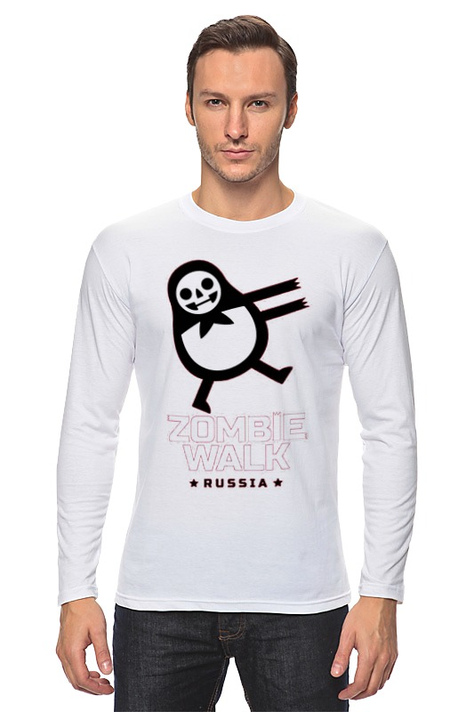 Лонгслив Printio Zombie walk - russia