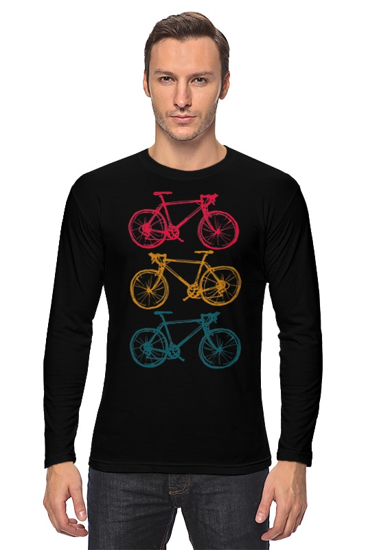 купить Лонгслив Printio Велосипеды недорого