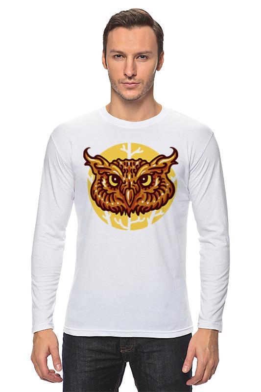 Лонгслив Printio Сова (owl) owl style wooden wall clock