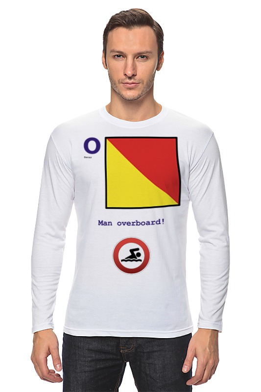 Лонгслив Printio Oscar (o), флаг мсс (eng) shure cvb w o