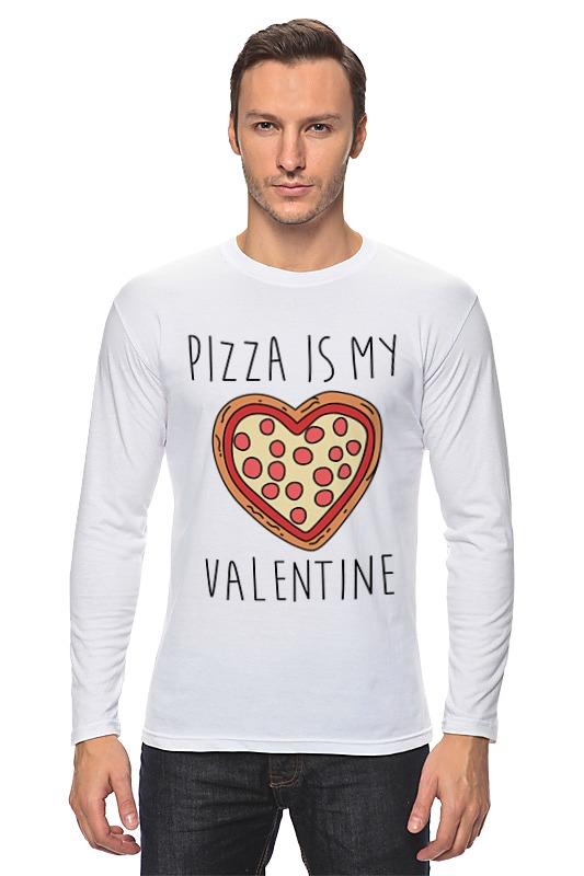 Лонгслив Printio Пицца - мой валентин