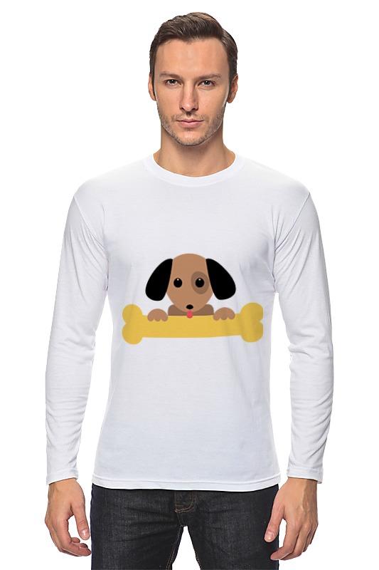 Лонгслив Printio Собачка с косточкой фантазер плюшевое сердце собачка с косточкой