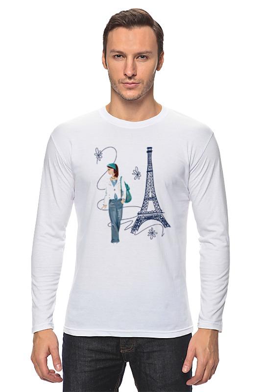 Лонгслив Printio Парижанка макет эйфелевой башни спб