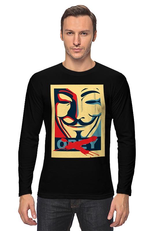 Лонгслив Printio Маска гая фокса маска