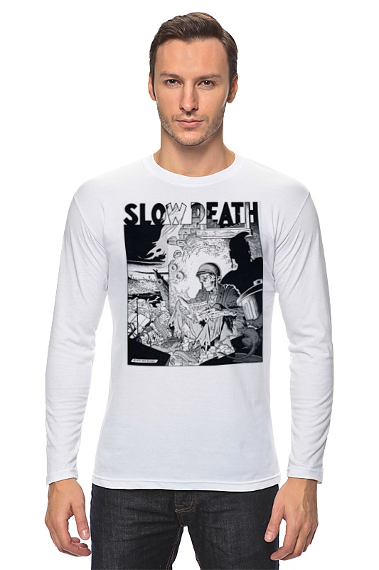 Лонгслив Printio Slow death t-shirt лонгслив printio slow death t shirt