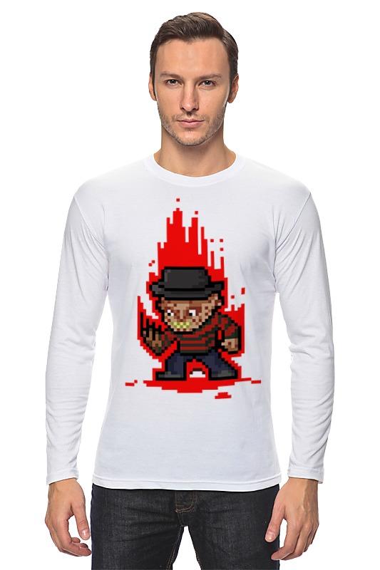 Лонгслив Printio Freddy krueger (8-bit) футболка wearcraft premium printio freddy krueger 8 bit