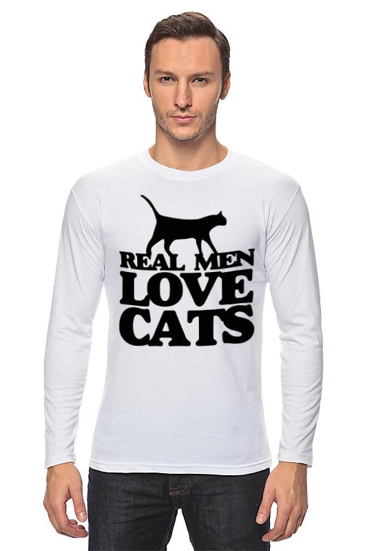 Лонгслив Printio Мужчины любят кошек zogaa новые мужчины  jacaet печать активность