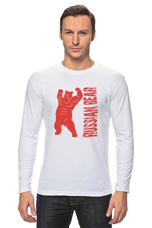 Лонгслив Printio Russian bear футболка для беременных printio putin love russian bear