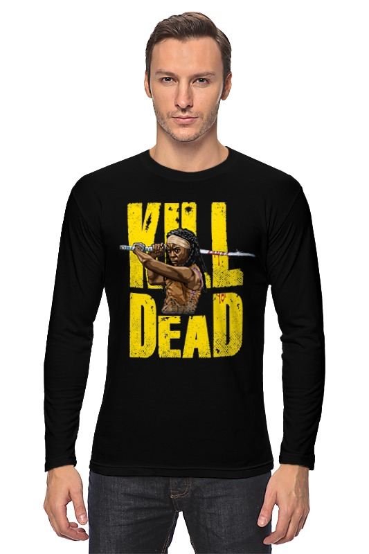 где купить Лонгслив Printio Kill dead дешево