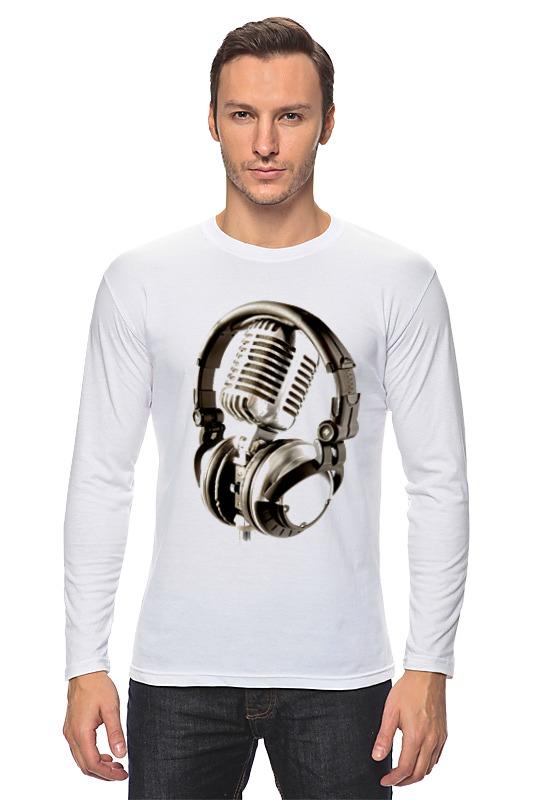 Лонгслив Printio Микрофон & наушники сумка printio микрофон