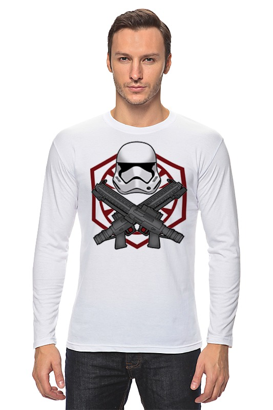 Лонгслив Printio First order trooper - star wars майка классическая printio first order trooper star wars