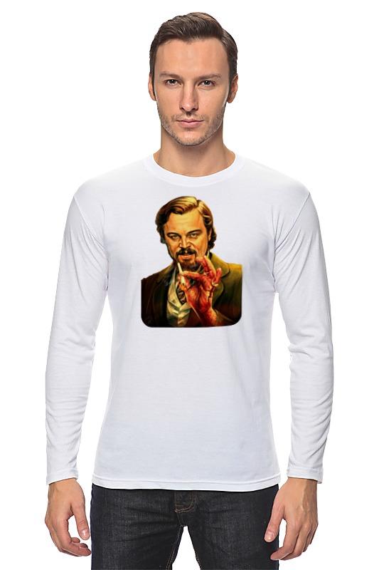 Лонгслив Printio Леонардо дикаприо (джанго освобожденный) футболка для беременных printio леонардо дикаприо джанго освобожденный