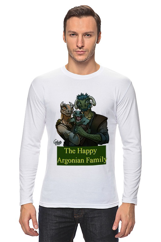 Лонгслив Printio The happy argonian family