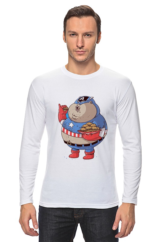 Лонгслив Printio Fat captain america лонгслив printio captain america капитан америка