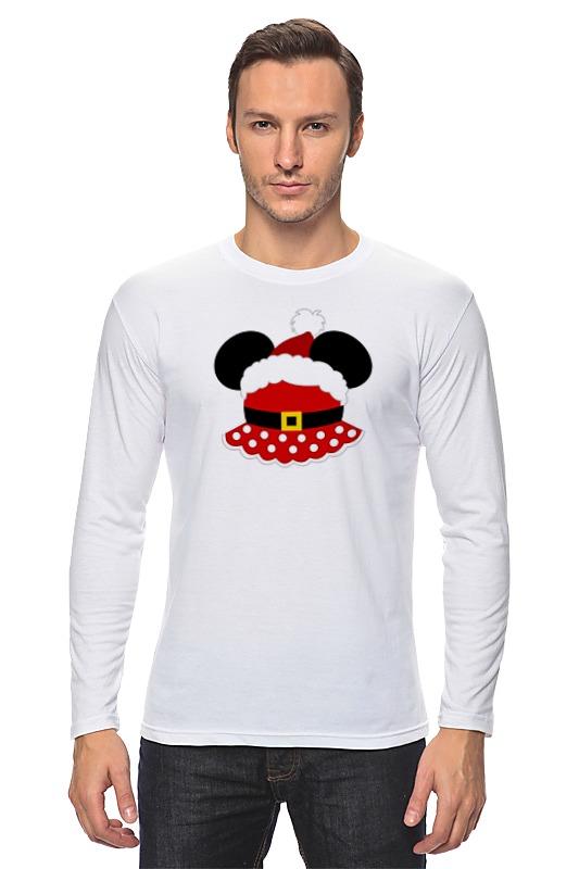 Лонгслив Printio Santa minnie (санта минни) футболка классическая printio santa minnie  санта минни
