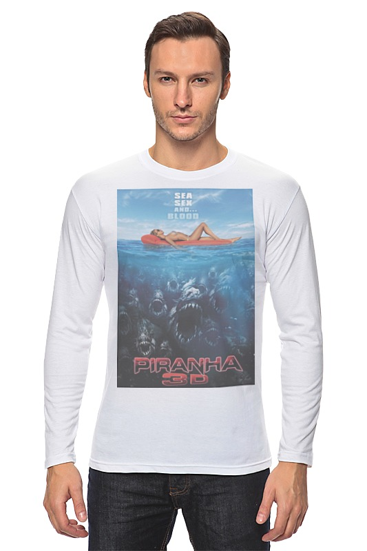 Лонгслив Printio Piranha / пираньи