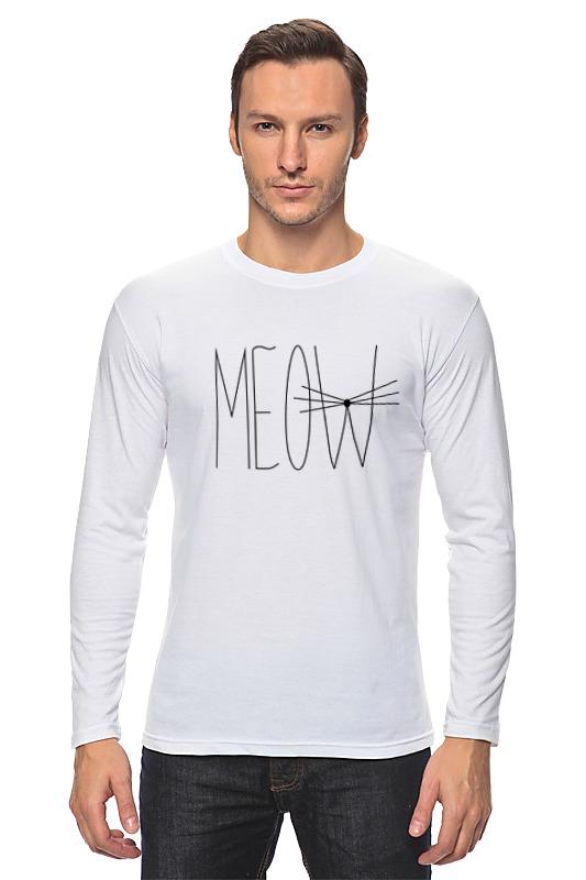 Лонгслив Printio Meow-meow :) свитшот print bar meow
