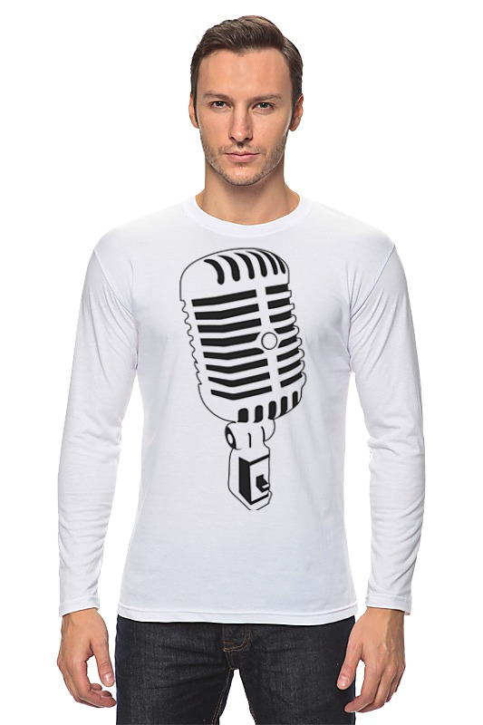 Лонгслив Printio Микрофон bonpoint лонгслив белый с принтом