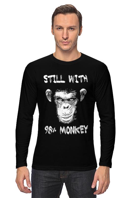 Лонгслив Printio Steel whit 98% monkey