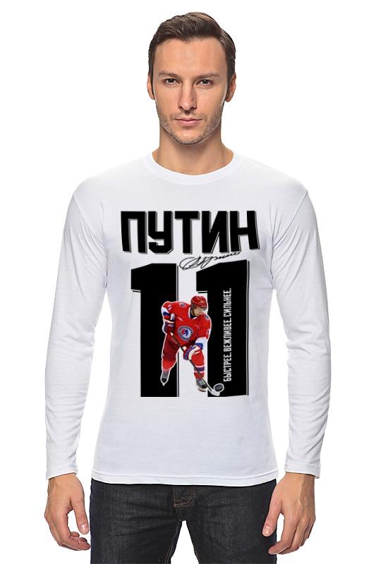 Лонгслив Printio Путин 11 хоккеист
