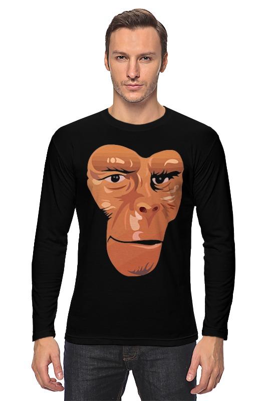 Лонгслив Printio Обезьяна (планета обезьян) футболка с полной запечаткой для девочек printio планета обезьян planet of the apes