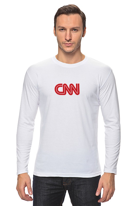 Лонгслив Printio Cnn (cable news network) футболка wearcraft premium slim fit printio cnn cable news network