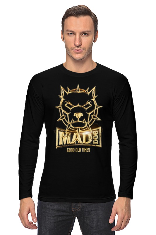Лонгслив Printio Mad dog gold