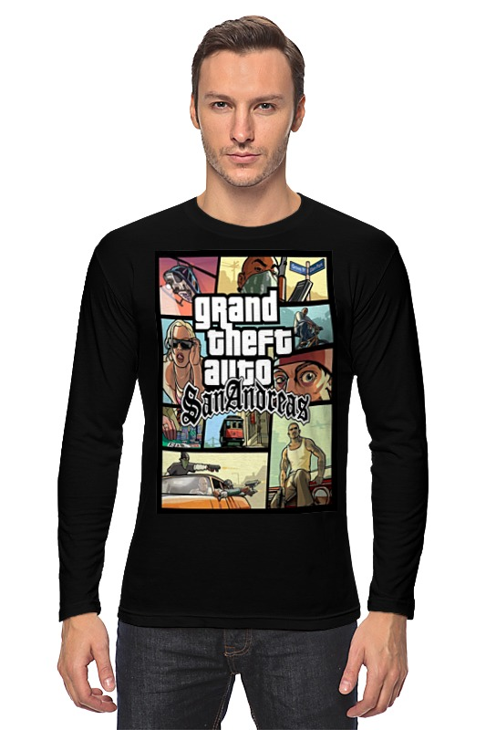 Printio Grand theft auto san andreas лонгслив printio san andreas
