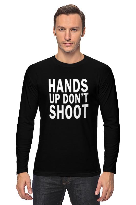 Лонгслив Printio Hands up don't shoot (руки вверх не стрелять) фоторамка hands up
