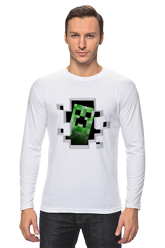 Лонгслив Printio Creeper сумка printio creeper