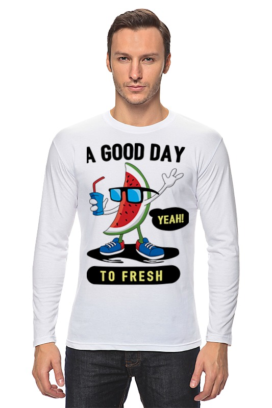 Лонгслив Printio A good day to fresh
