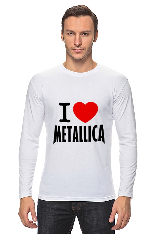 Лонгслив Printio «i love metallica» лонгслив printio i love you beary much