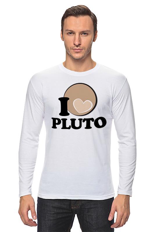 Лонгслив Printio Плутон (pluto) планета на которой убивают
