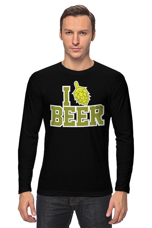 Лонгслив Printio Люблю пиво лонгслив printio работаю за пиво