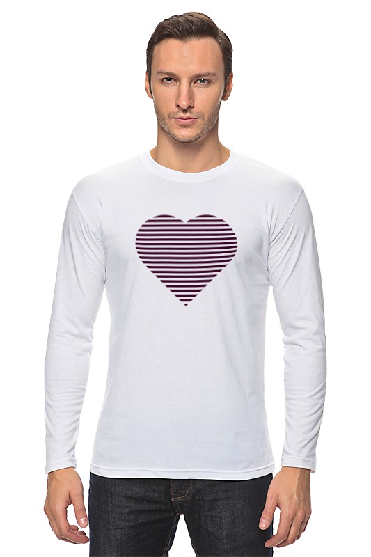Лонгслив Printio Сердце лонгслив printio акварель сердце из голубики