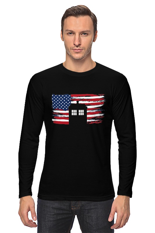 Лонгслив Printio Tardis usa лонгслив printio usa for africa