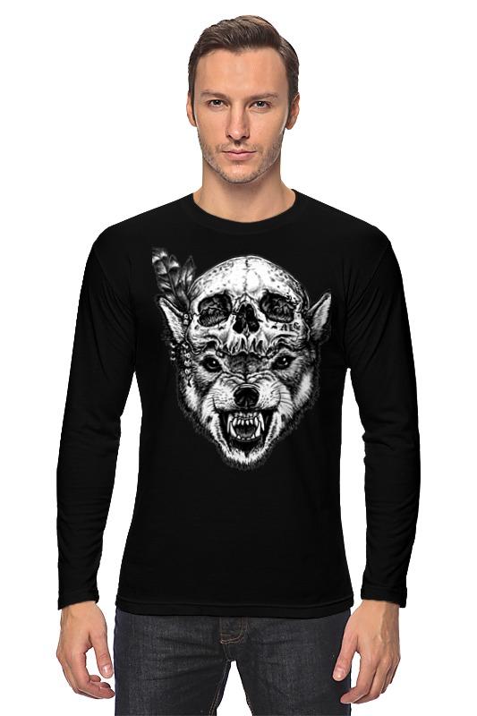 Лонгслив Printio Wolf & skull лонгслив printio low poly skull