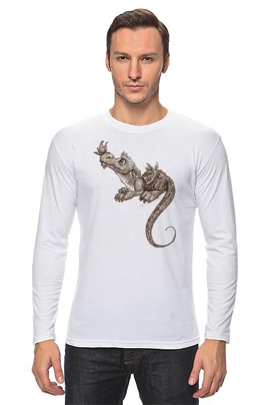 Лонгслив Printio Дракончик и бабочка кулон из авантюрина дракончик