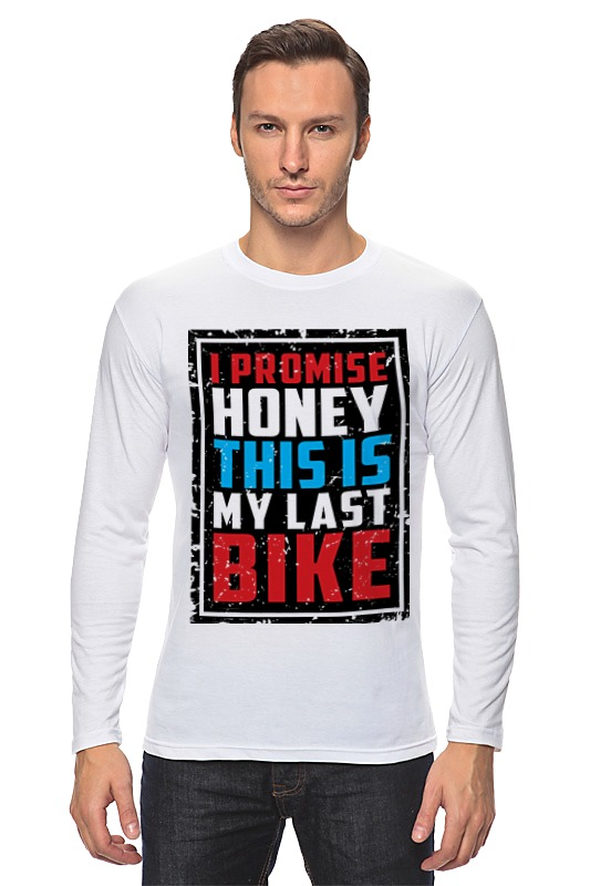 Лонгслив Printio I promise honey this is my last bike лонгслив printio brooklyn bike
