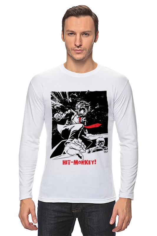 Лонгслив Printio Hit-monkey! футболка классическая printio hit monkey