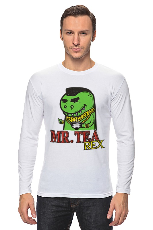 Лонгслив Printio Mr. tea rex
