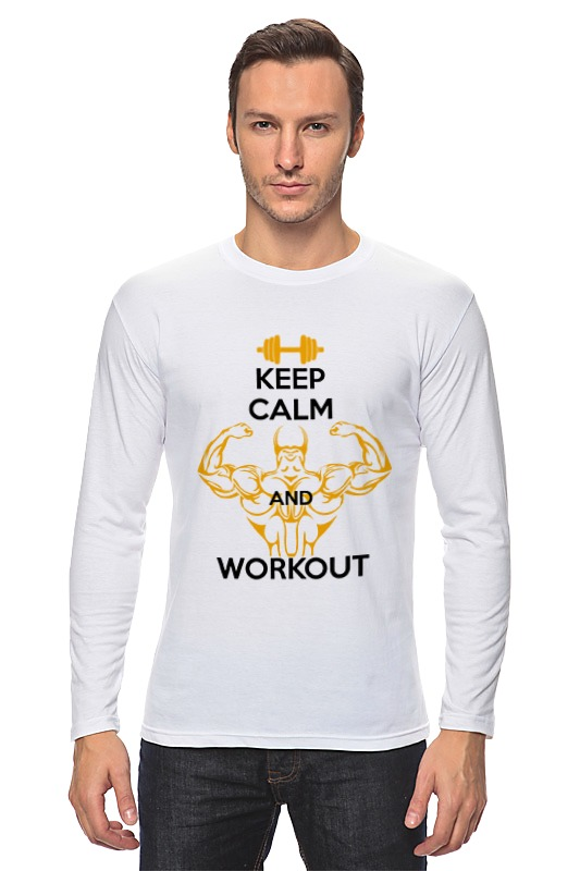 Лонгслив Printio Keep calm and workout сумка printio keep calm and ski on