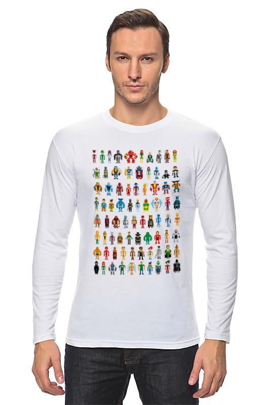 Лонгслив Printio Пиксельные супергерои майка print bar пиксельные единороги