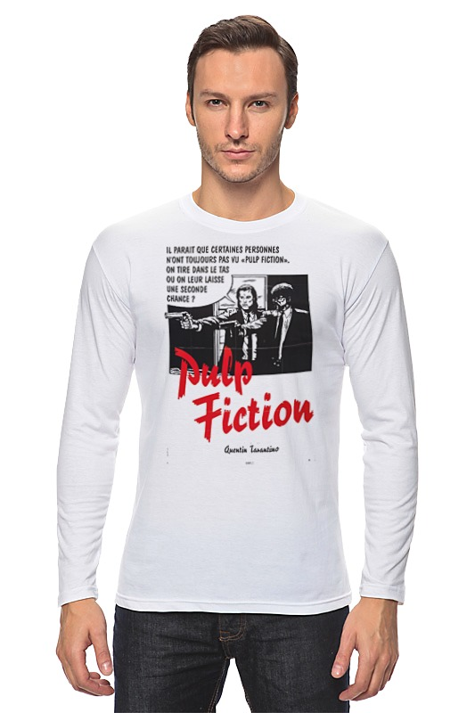 Лонгслив Printio Pulp fiction authentic original vintage style толстовка